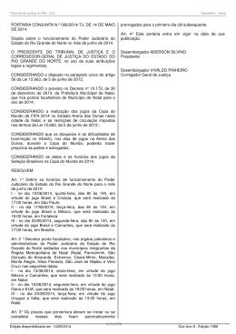 Portaria Conjunta 006/2014