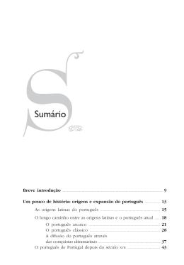 Sumário - Editora Contexto