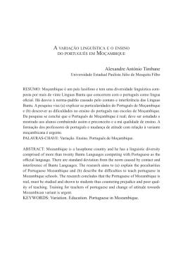 A variação linguística e o ensino do português em Moçambique