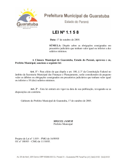 Lei 01158 de 17/10/2005 Clique para ver em pdf