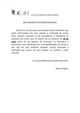 Declaração de Incompatibilidades
