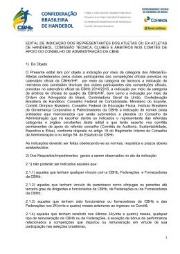 Comissão de atletas - Confederação Brasileira de Handebol