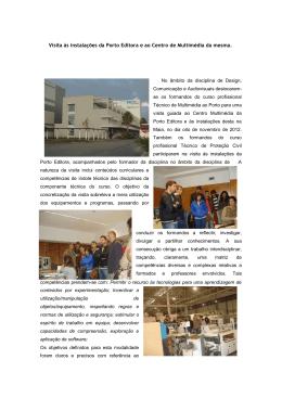 Visita às instalações da Porto Editora e ao Centro de Multimédia da