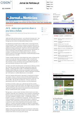 Jornal de Notícias.pt Já h mães que querem doar o seu