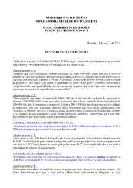 Resposta QUESTIONAMENTO 2 - Ministério Público Militar