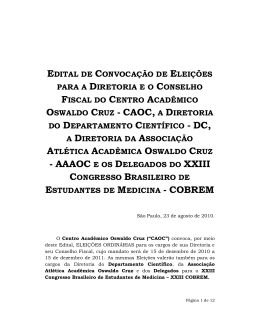 OSWALDO CRUZ - CAOC,