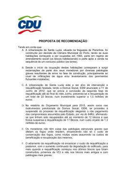 Texto da proposta do Bairro de Santa Luzia