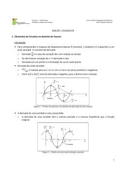 1. Elementos de Circuitos no domínio de Faso Introdução • Para