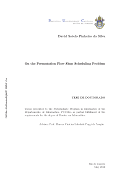 David Sotelo Pinheiro da Silva On the Permutation Flow Shop