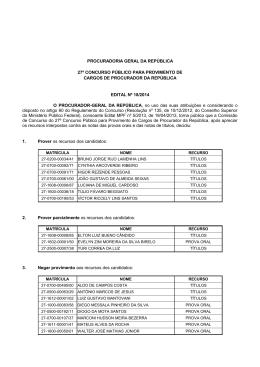 resultado final - Procuradoria-Geral da República
