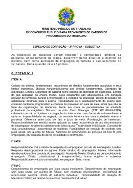 Espelho de correção - Ministério Público do Trabalho