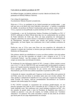 Carta aberta ao ministro presidente do STF Por William