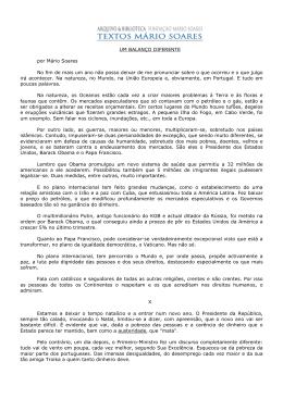 Um balanço diferente - Fundação Mário Soares
