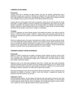 LAMPREIA DO RIO MINHO Preparação Lava
