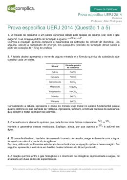 Prova específica UERJ 2014 (Questão 1 a 5)
