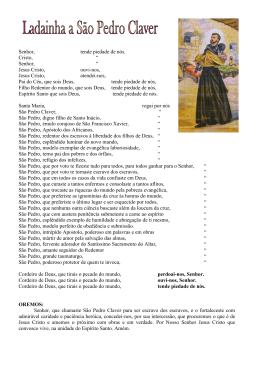 LITANIE IN ONORE DI S - Suore Missionarie di s. Pietro Claver