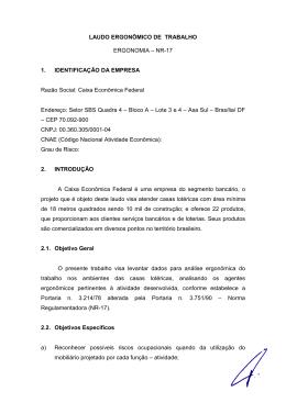 LAUDO ERGONÔMICO - novo modelo