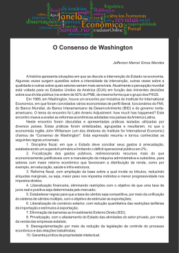 O Consenso de Washington, por Jefferson