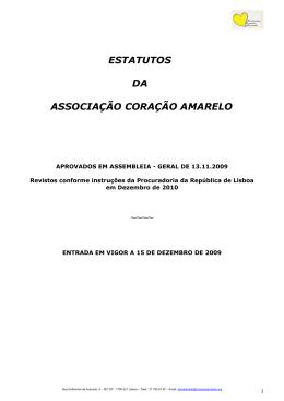 Estatutos da Associação Coração Amarelo