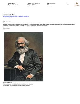 As misérias de Marx