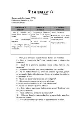 Arte - 6º ano - Prof. Rafaela