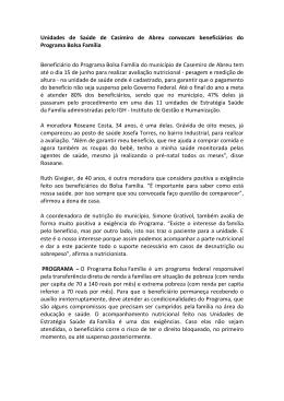 Unidades de Saúde de Casimiro de Abreu convocam