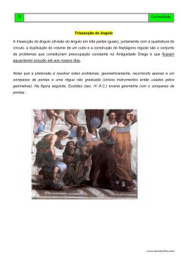 Trissecção do ângulo - Professor Morais da Silva