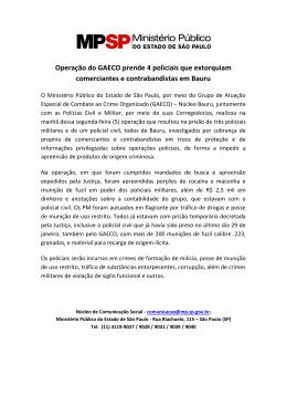 Operação do GAECO prende 4 policiais que