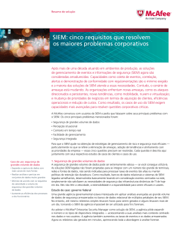 SIEM: cinco requisitos que resolvem os maiores