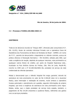235.980-2003-14 - HOSPITAL ESPERANÇA- PE