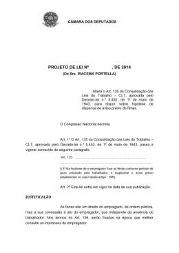 PL 7164/2014 - Câmara dos Deputados