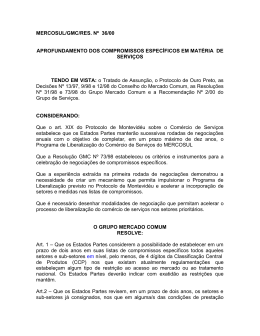MERCOSUL/GMC/RES. Nº 36/00 APROFUNDAMENTO