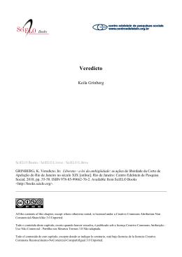 Veredicto - SciELO Livros