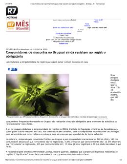 Consumidores de maconha no Uruguai ainda resistem ao registro