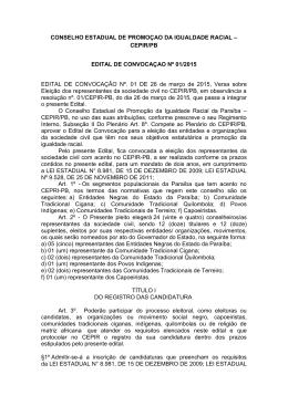 conselho estadual de promoçao da igualdade racial – cepir/pb
