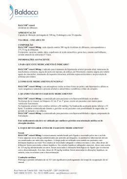 BALCOR® retard cloridrato de diltiazem APRESENTAÇÃO Cápsula