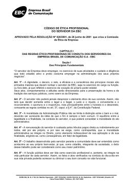 CÓDIGO DE ÉTICA PROFISSIONAL DO SERVIDOR DA EBC
