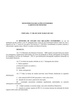 Portaria nº 200/2012 - Divisão de Temas Educacionais
