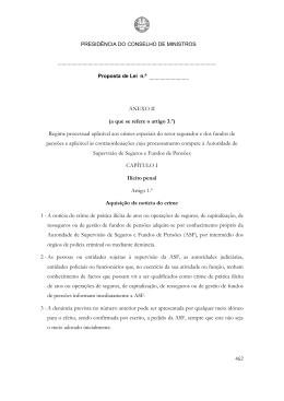 462 ANEXO II (a que se refere o artigo 3.º) Regime processual