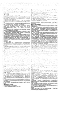Contrato de locação de veículo que fazem CARRO RESERVA