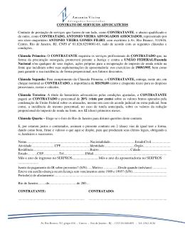 CONTRATO DE SERVIÇOS ADVOCATÍCIOS Contrato de