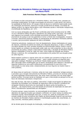 Atuação do Ministério Público em Segunda Instância: Sugestões de