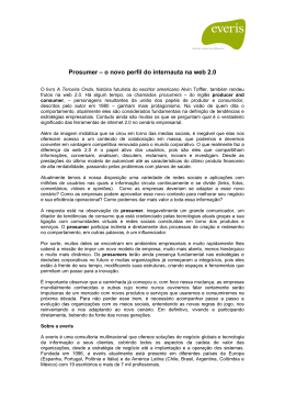 Prosumer – o novo perfil do internauta na web 2.0