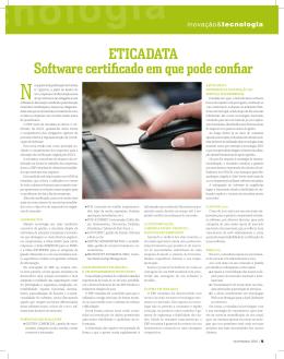 Eticadata Software certificado em que pode confiar