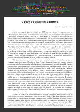 O papel do Estado na Economia