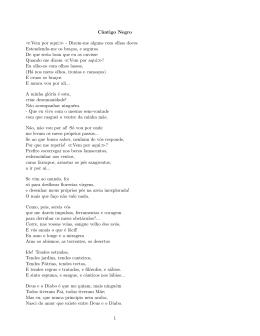 Cântigo Negro > - Dizem-me alguns com olhos