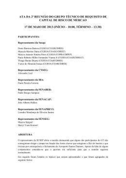 Ata da reunião do dia 17/05/2013