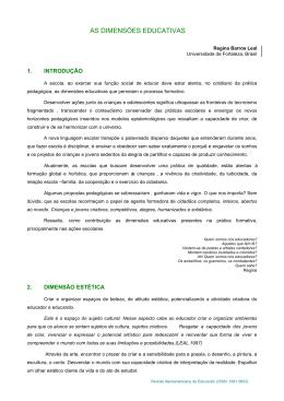 as dimensões educativas - Revista Iberoamericana de Educación
