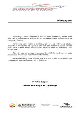 Taquaritinga Boletim Geral 1 com informações referente a