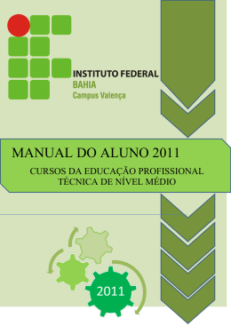 MANUAL DO ALUNO 2011 - Iniciar